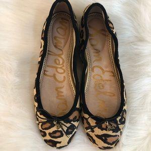 Sam Edelman Pony Hair leopard cheetah flats 7